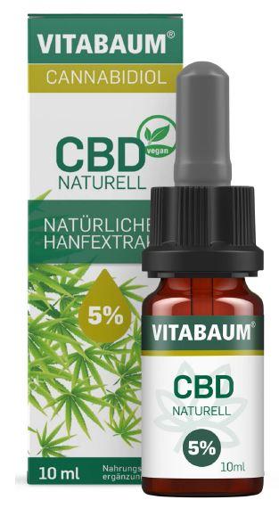Vitabaum CBD Naturell - Natürlicher Hanfextrakt 5%