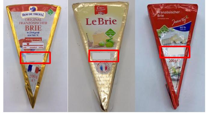 """Original Französischer Brie """"Roi de Trèfle"""", Le Brie """"Chêne d'argent"""" Französischer Brie """"Jeden Tag"""""""