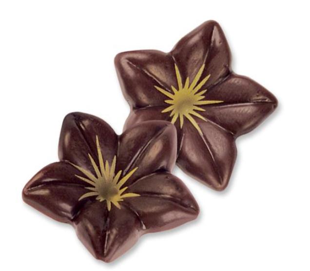 Artikel 2340 – Blüten, dunkle Schokolade 3D