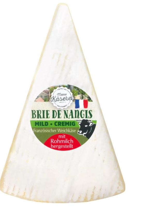 Meine Käserei Brie de Nangis, französischer Weichkäse mit Rohmilch hergestellt, 100 g