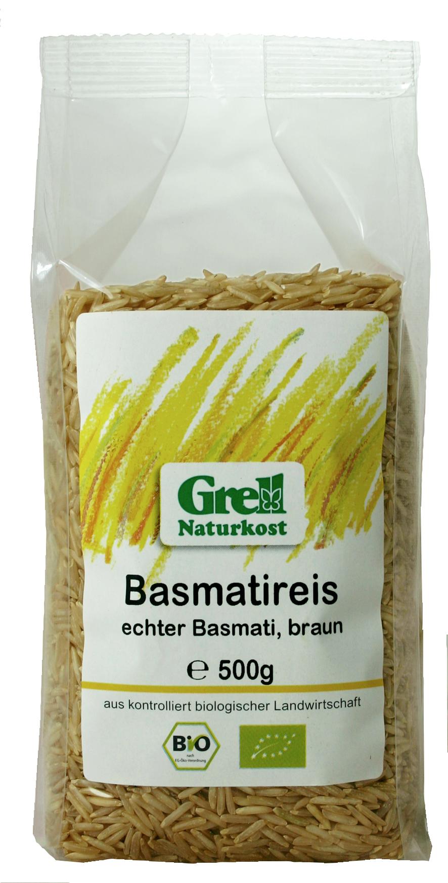 Basmatireis, echter Basmatireis, braun