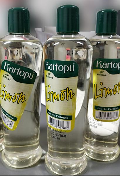 """Kartopu """"Limon"""", S.N:003 80° Kolonya eau de Cologne"""
