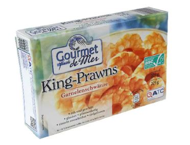 """Gourmet Fruits de Mer"" King-Prawns, Garnelenschwänze in der Sorte ""Natur"", 225g"