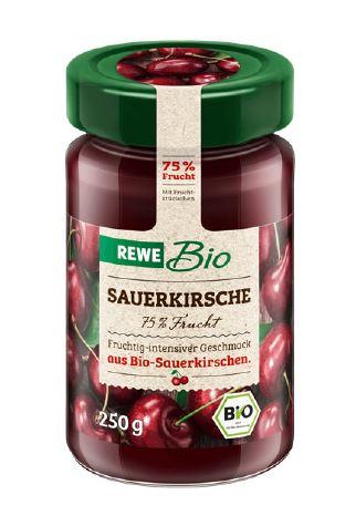 REWE Bio Sauerkirsch 75% Frucht