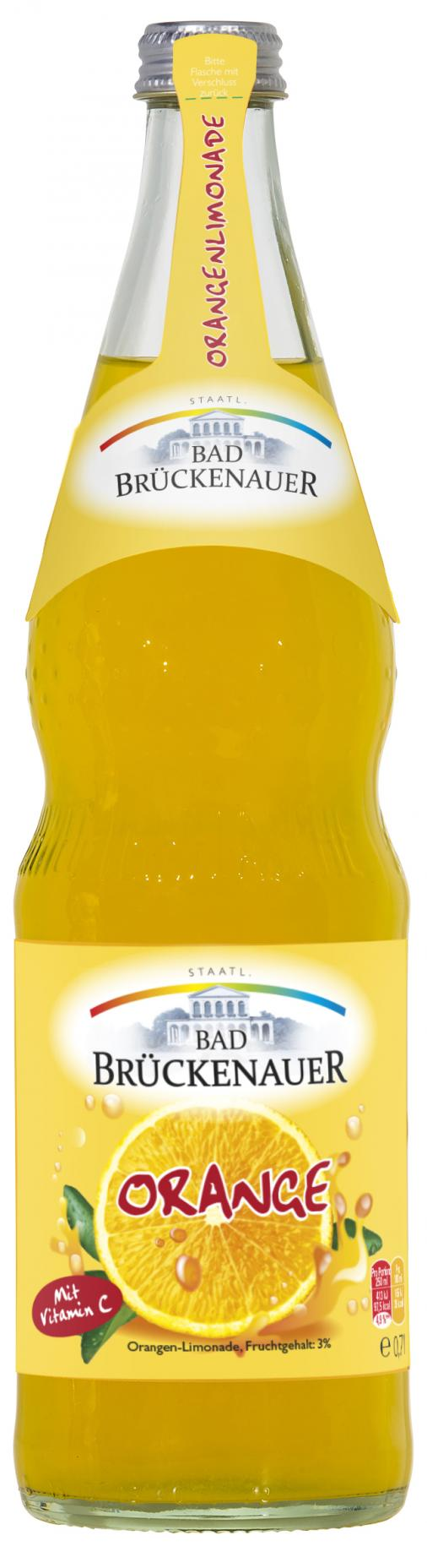 Staatl. Bad Brückenauer Orangenlimonade 12 x 0,7 l Glas
