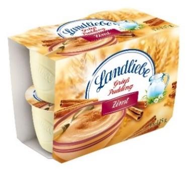 - Landliebe Grießpudding Traditionell, im 4 x 125 g - Landliebe Grießpudding Zimt, im 4 x 125 g - Landliebe Sahne Pudding Schokolade, im 4 x 125 g