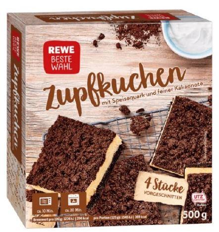 Rewe Beste Wahl Zupfkuchen, 500 g, tiefgefroren
