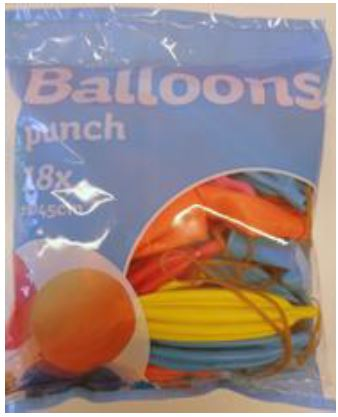 18 Punch-Ballons sortiert, 45 cm Durchmesser Artikel: 95001, EAN: 8714572950015