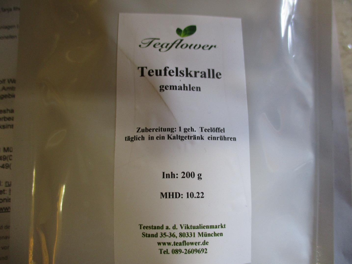 Teaflower Teufelskralle gemahlen