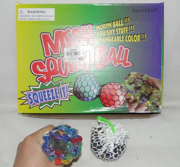 """Quetschball """"Mesh Squish Ball"""" mit der Barcode-Nummer: 4036855850602 und Item no. 185060"""