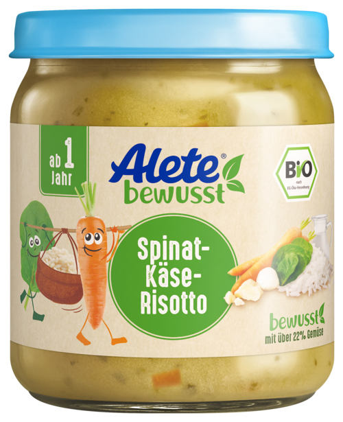 Aletebewust Spinat Kaese Risotto 250G