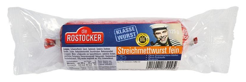 Streichmettwurst fein 125g Teewurst 125g (Vertrieb Netto)