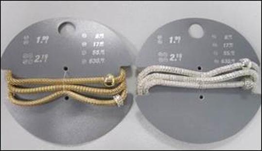 Armband, elastisch mit glänzenden Perlen in silber und gold