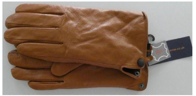 Braune Damen-Lederhandschuhe der Marke McCalifornia