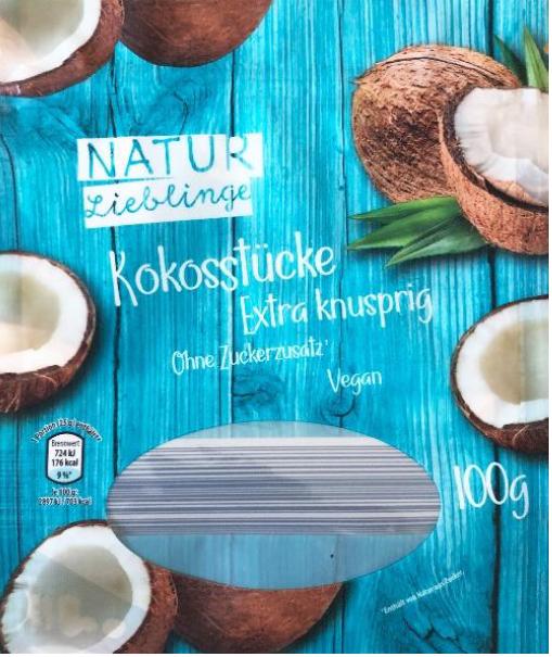 """"""" NATUR Lieblinge – Kokosstücke, 100 g """""""