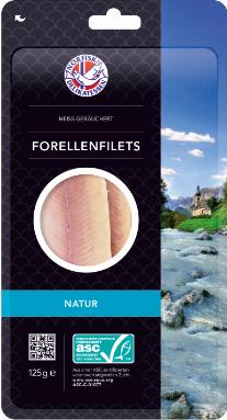Norfisk Forellenfilets Natur, heiß geräuchert