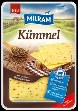 MILRAM Kümmelkäse Scheiben 45% 150g