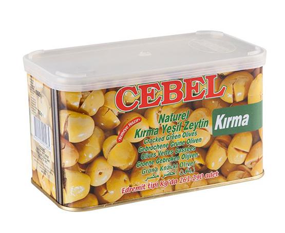 Oliven: CEBEL Kirma yesil Zeytin / Kirma grüne Oliven 700g