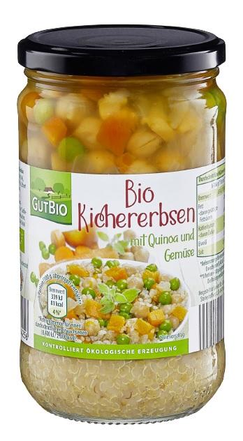 Bio Kichererbsen mit Quinoa und Gemüse der Marke GutBio