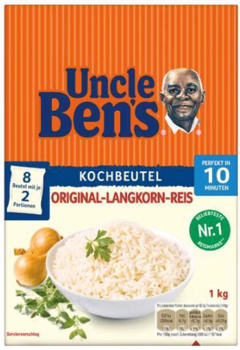 Uncle Ben's Original-Langkornreis im Kochbeutel (10 min, 1 kg)