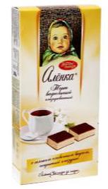 """Waffeltorte """"Alönka"""" mit Cremefüllung (61%) umhüllt von kakaohaltiger Fettglasur"""