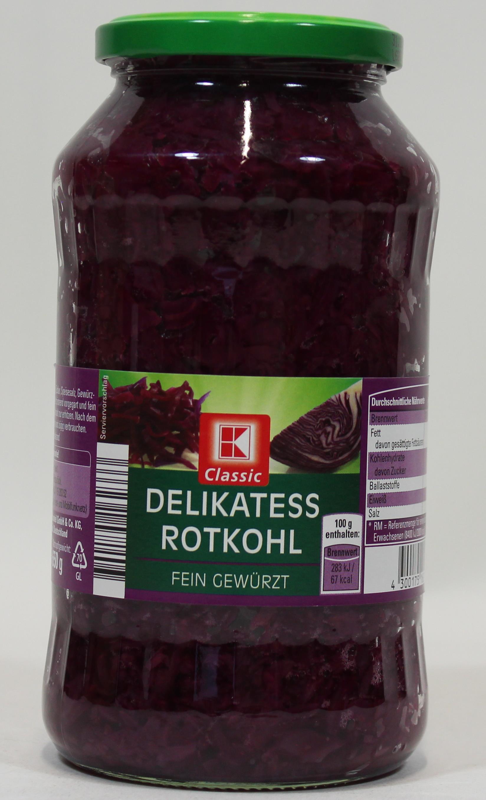 K-Classic Delikatess Rotkohl