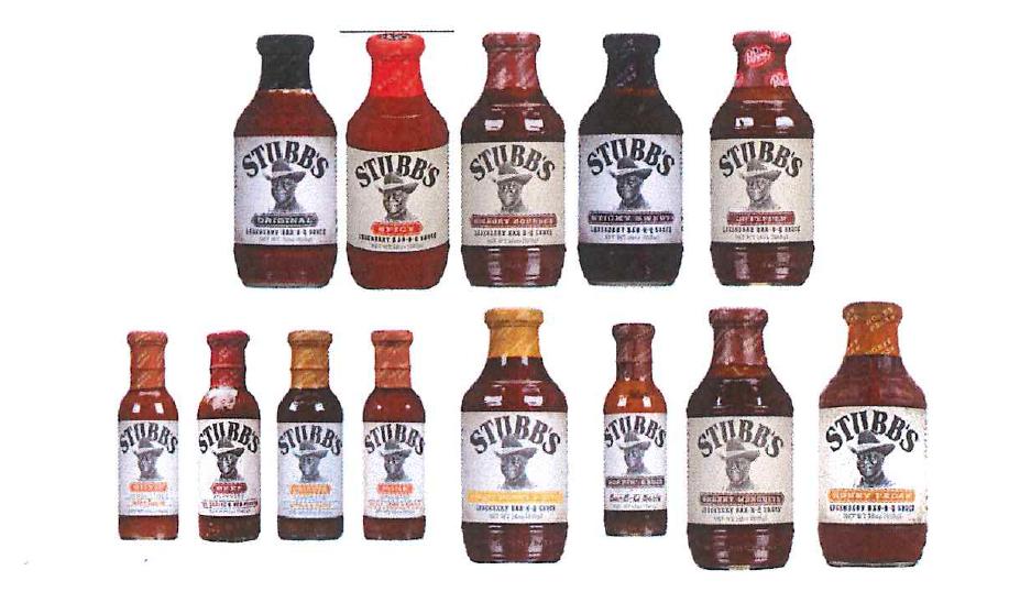 diverse Saucen und Marinaden der Handelsmarke STUBB`S BAR-B-Q