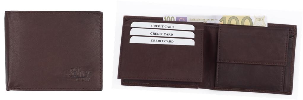 Herrengeldbörse aus Echtleder in Farbe braun