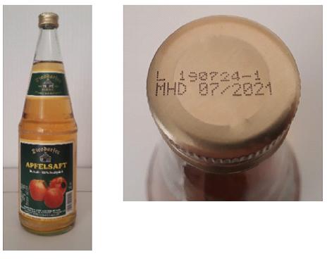 Diesdorfer Apfelsaft-Direktsaft-100% Fruchtgehalt, 1,0 L